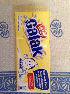 Galak, I've had them from Ecuador so I was excited to see them in Rome. It's white chocolate.