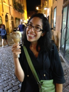 Me... and gelato :)