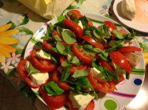 Homemade Caprese Salad that would knock your socks off.