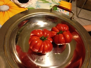 Funky tomatoes.