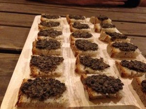 Olive tapenade toasts